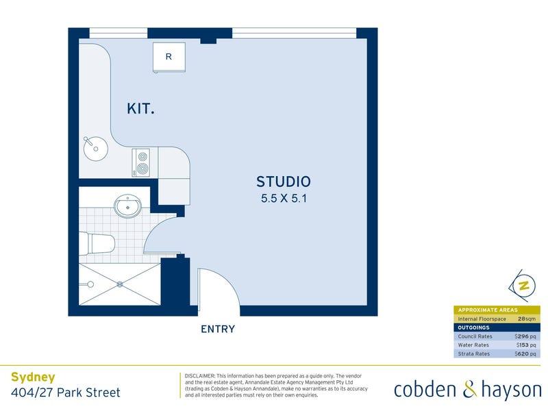 404/27 Park Street, Sydney, NSW 2000 - floorplan