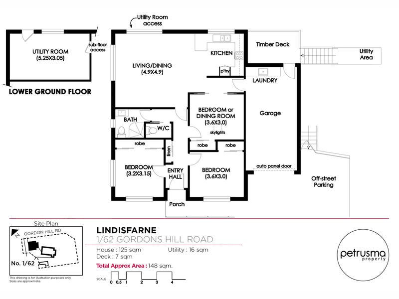 1/62 Gordons Hill Road, Lindisfarne, Tas 7015 - floorplan