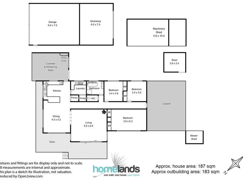 168 Lanes Road, Glen Huon, Tas 7109 - floorplan