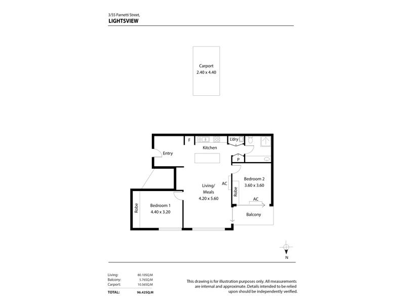 3/55 Parnatti Street, Lightsview, SA 5085 - floorplan