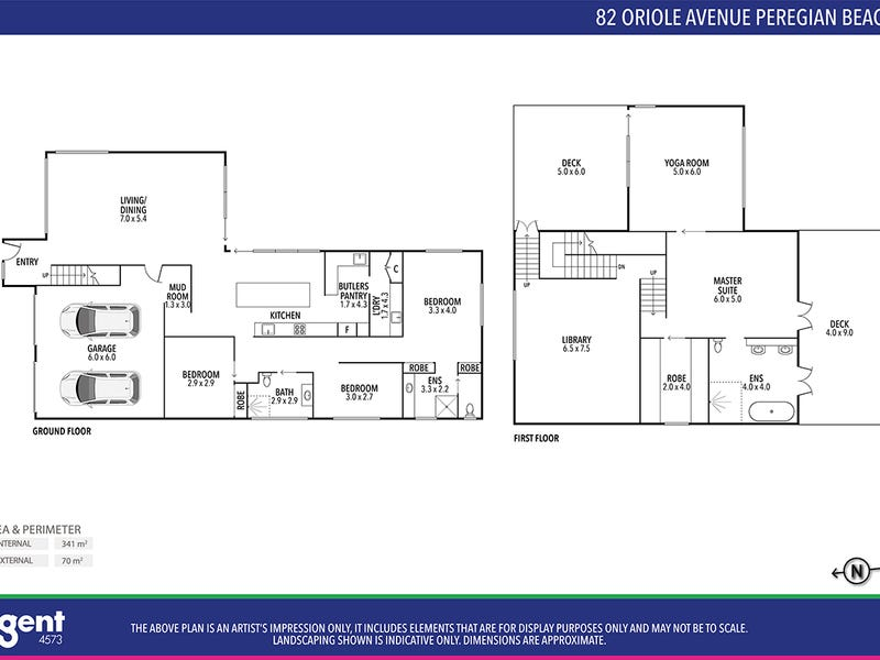 82 Oriole Avenue, Peregian Beach, Qld 4573 - floorplan