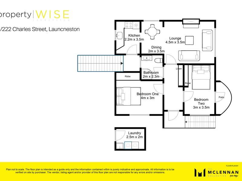 2/222 Charles Street, Launceston, Tas 7250 - floorplan