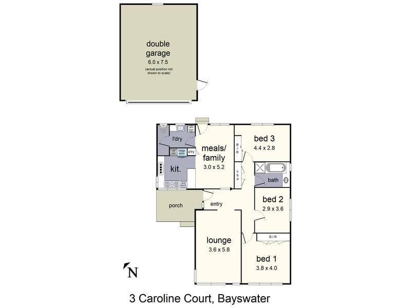 3 Caroline Court, Bayswater, Vic 3153 - floorplan
