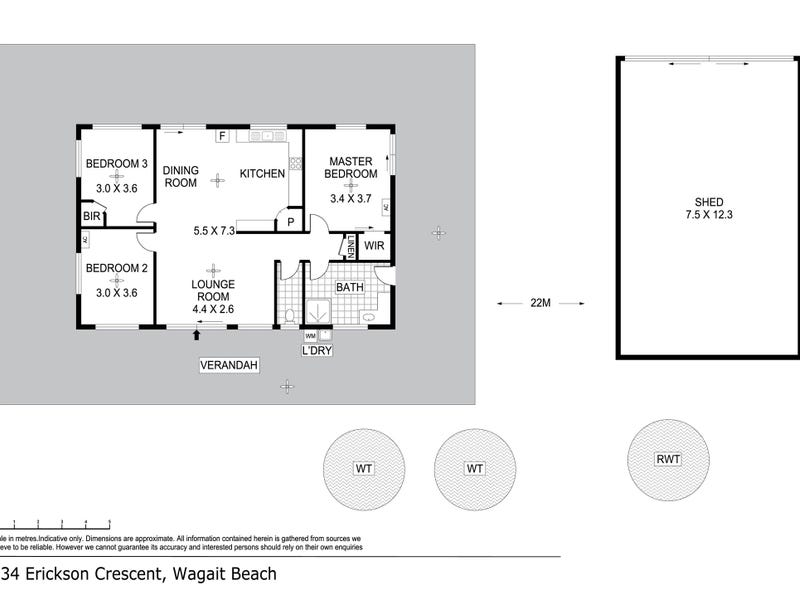 134 Erickson Crescent, Wagait Beach, NT 0822 - floorplan