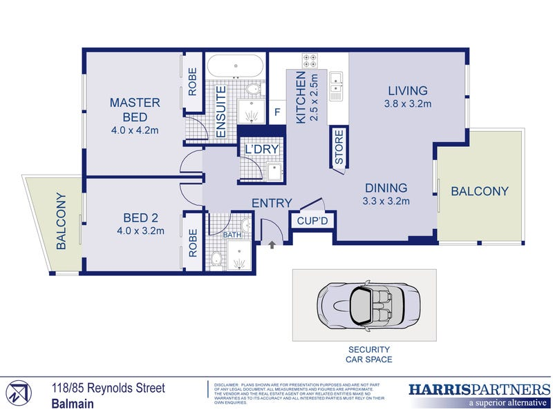 118/85 Reynolds Street, Balmain, NSW 2041 - floorplan