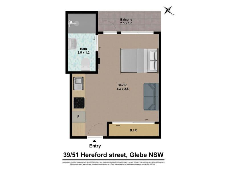 39/51 HEREFORD STREET, Glebe, NSW 2037 - floorplan