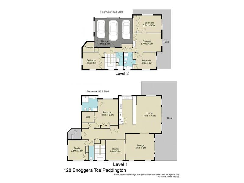 128 Enoggera Terrace, Paddington, Qld 4064 - floorplan