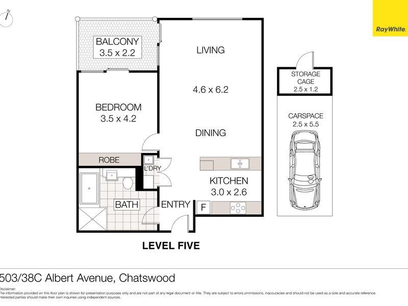 503/38C Albert Avenue, Chatswood, NSW 2067 - floorplan