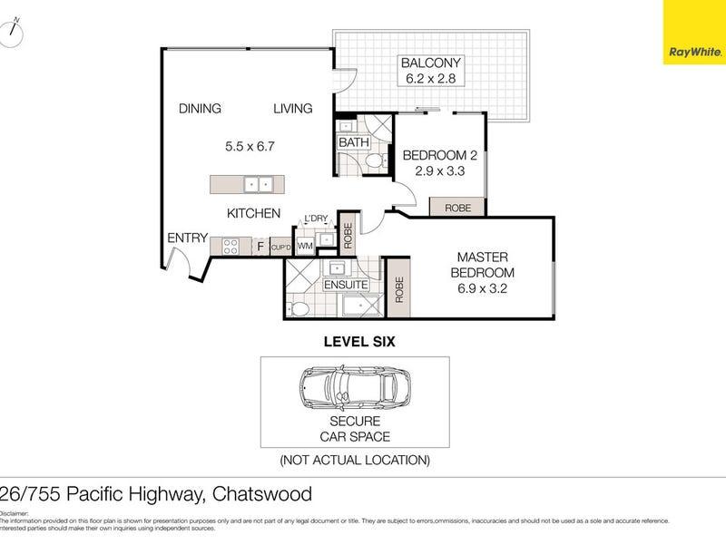 26/755-759 Pacific Highway (enter via Albert Ave), Chatswood, NSW 2067 - floorplan