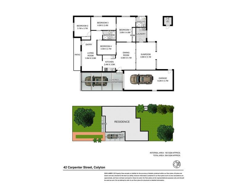 42 Carpenter St, Colyton, NSW 2760 - floorplan
