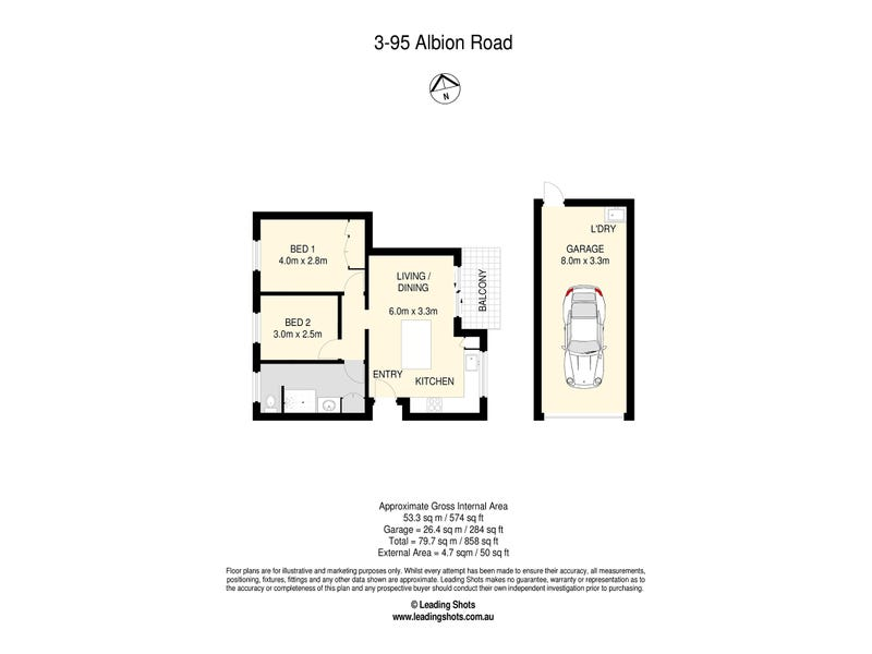 3/95 Albion (Service) Road, Albion, Qld 4010 - floorplan