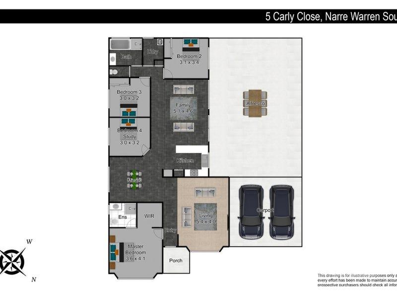 5 Carly Close, Narre Warren South, Vic 3805 - floorplan