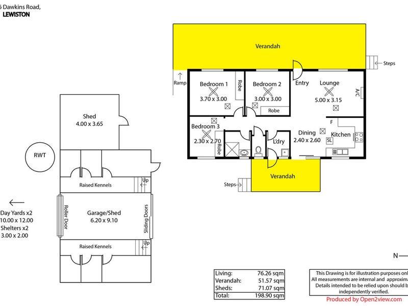 186 Dawkins Road, Lewiston, SA 5501 - floorplan