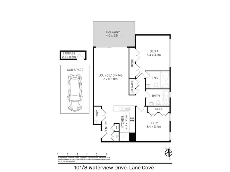 101/8 Waterview Drive, Lane Cove, NSW 2066 - floorplan