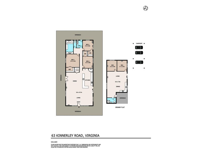 63 Kinnerley Road, Virginia, NT 0834 - floorplan