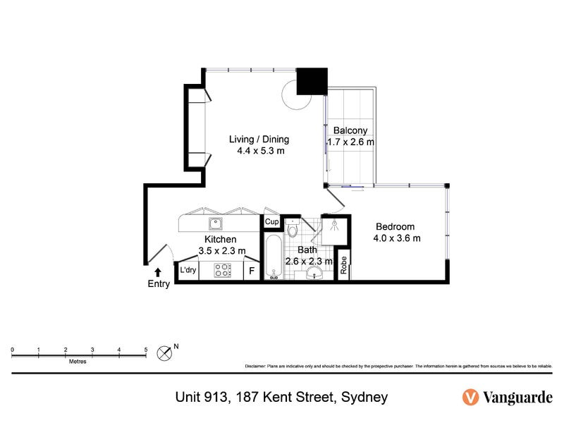 913/187 Kent Street, Sydney, NSW 2000 - floorplan