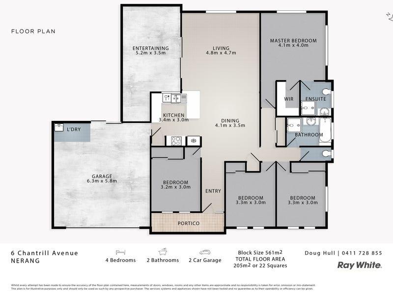 6 Chantrill Avenue, Nerang, Qld 4211 - floorplan