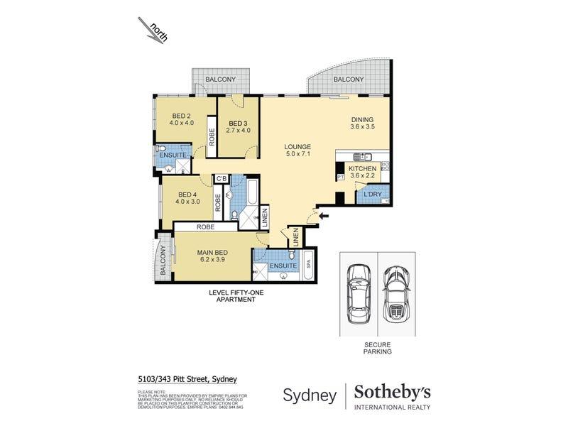 5103/343-347 Pitt Street, Sydney, NSW 2000 - floorplan