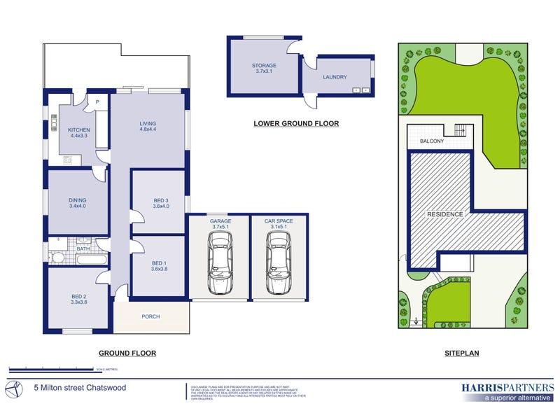 5 Milton Street, Chatswood, NSW 2067 - floorplan