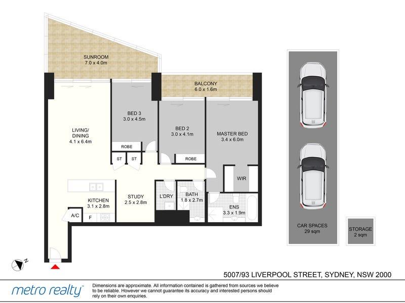 5007/93 Liverpool Street, Sydney, NSW 2000 - floorplan