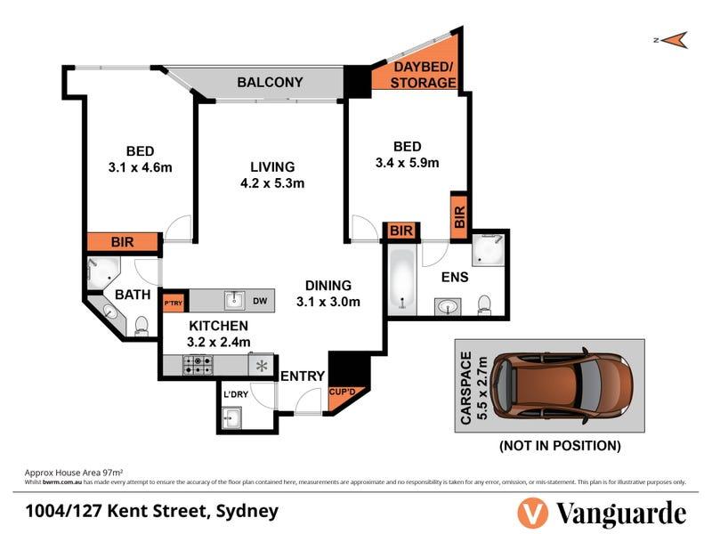 1004/127 Kent Street, Sydney, NSW 2000 - floorplan
