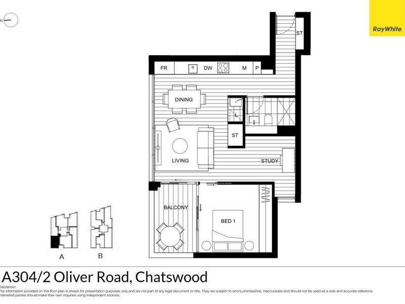 A304/2 Oliver Road, Chatswood, NSW 2067 - floorplan