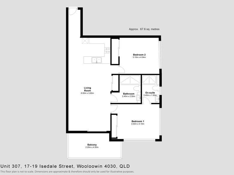 307/19 Isedale Street, Wooloowin, Qld 4030 - floorplan