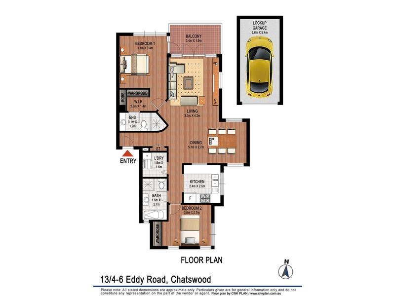 13/4-6  Eddy road, Chatswood, NSW 2067 - floorplan