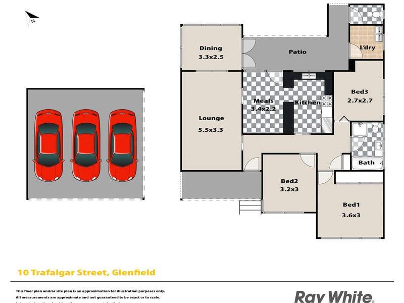 10 Trafalgar Street, Glenfield, NSW 2167 - floorplan
