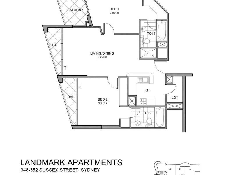2505/348-352 Sussex Street, Sydney, NSW 2000 - floorplan