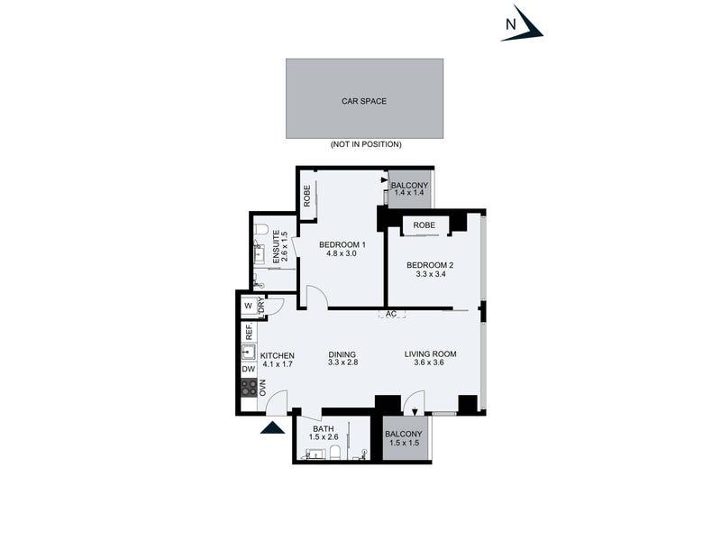3106/568 Collins Street, Melbourne, Vic 3000 - floorplan
