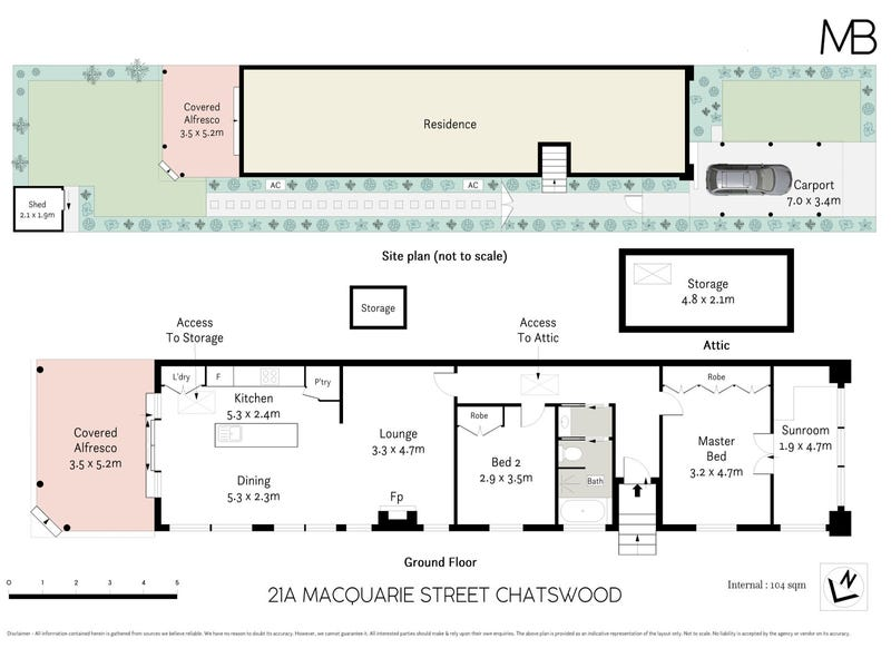21A Macquarie Street, Chatswood, NSW 2067 - floorplan