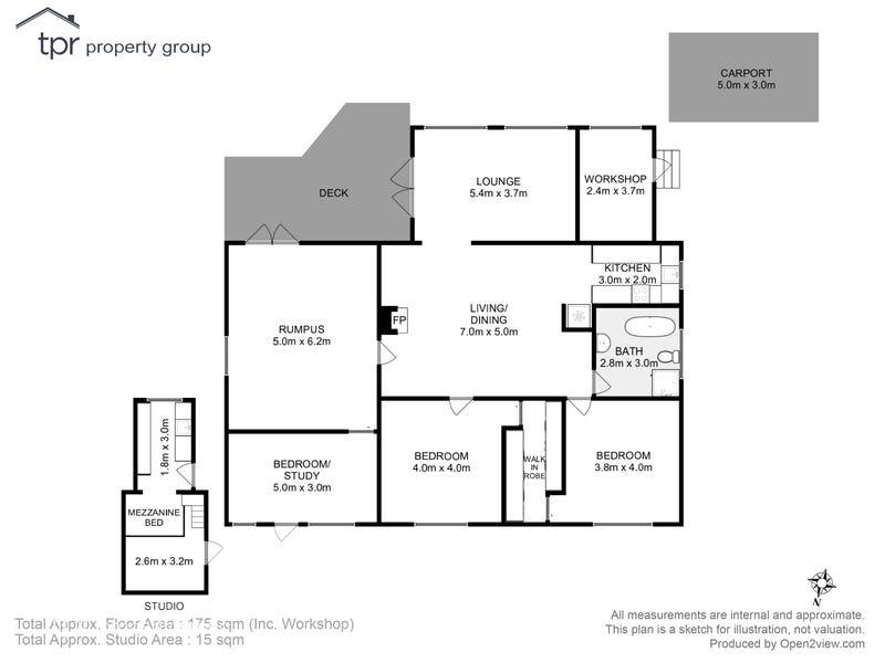 427 Abels Bay Road, Abels Bay, Tas 7112 - floorplan