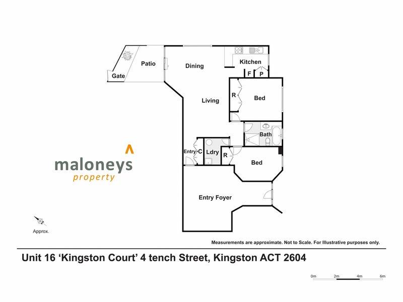 16/4 Tench Street, Kingston, ACT 2604 - floorplan