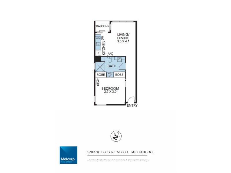 1702/8 Franklin Street, Melbourne, Vic 3000 - floorplan