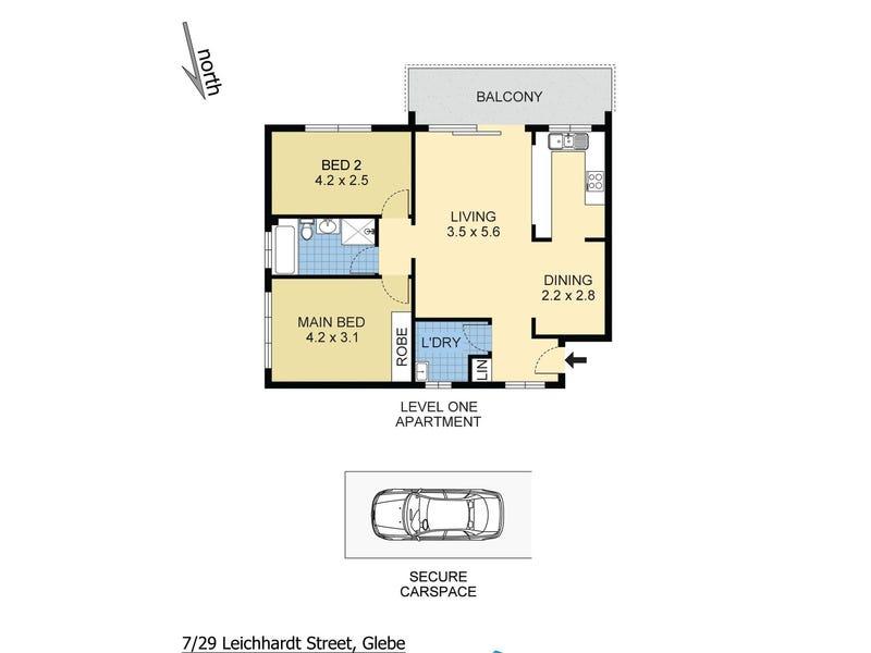 7/29 Leichhardt Street, Glebe, NSW 2037 - floorplan