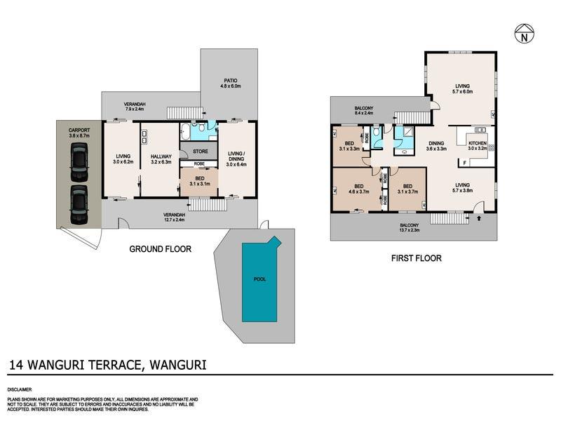 14 Wanguri Terrace, Wanguri, NT 0810 - floorplan