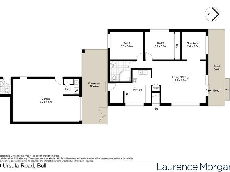 9 Ursula Road, Bulli, NSW 2516 - floorplan