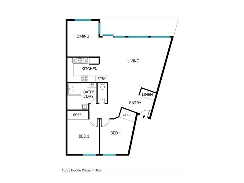 15/38 Bootle Place, Phillip, ACT 2606 - floorplan