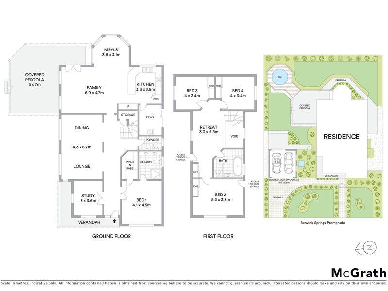 84 Berwick Springs Promenade, Narre Warren South, Vic 3805 - floorplan