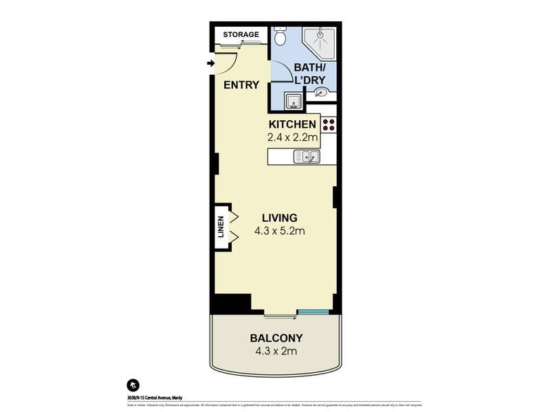 303B/9-15 Central Avenue, Manly, NSW 2095 - floorplan