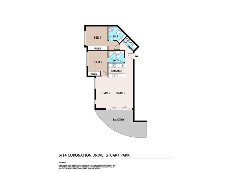 6/14 Coronation Drive, Stuart Park, NT 0820 - floorplan