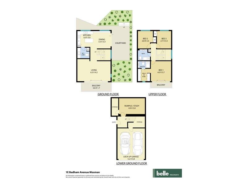 1e Badham Avenue, Mosman, NSW 2088 - floorplan