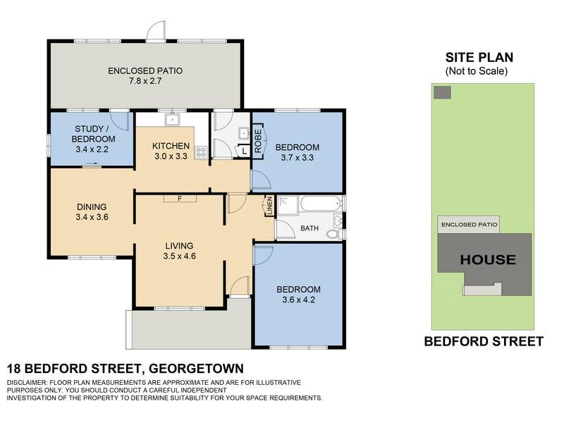 18 bedford st, Georgetown, NSW 2298 - floorplan