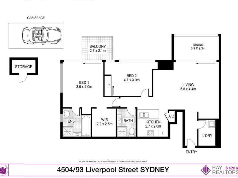 4504/93 Liverpool Street, Sydney, NSW 2000 - floorplan