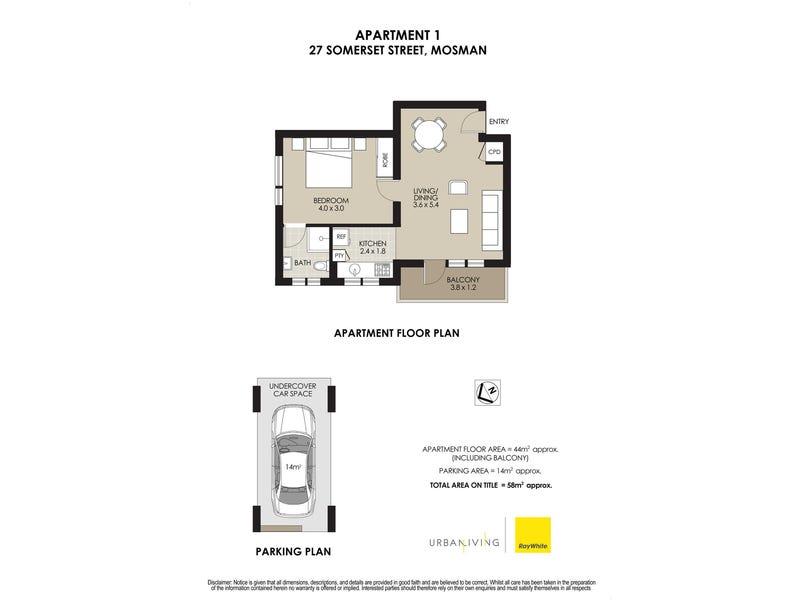 1/27 Somerset Street, Mosman, NSW 2088 - floorplan