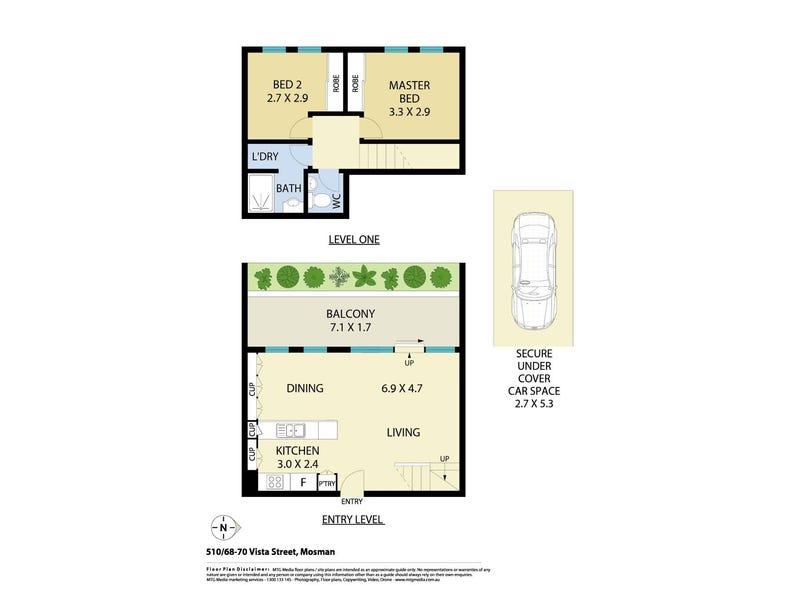 510/68-70 Vista Street, Mosman, NSW 2088 - floorplan