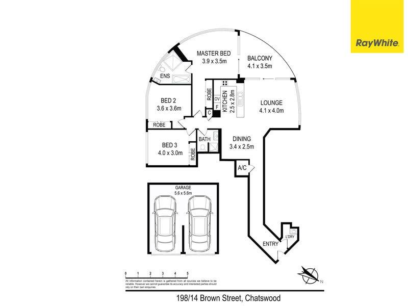 198/14 Brown Street, Chatswood, NSW 2067 - floorplan