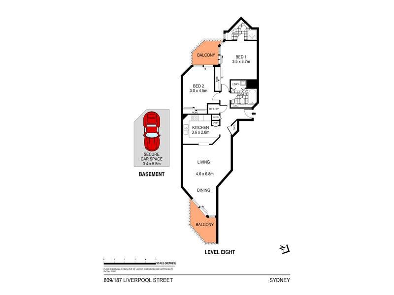 809/187 Liverpool Street, Sydney, NSW 2000 - floorplan