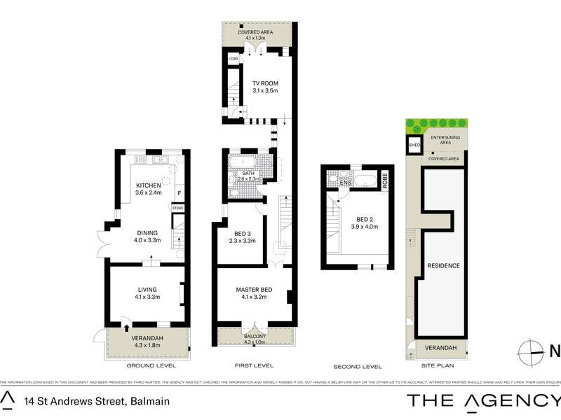 14 St Andrew Street, Balmain, NSW 2041 - floorplan